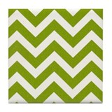 Green chevron pattern Drink Coasters