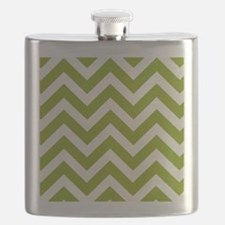 Chartreuse Chevron Flask