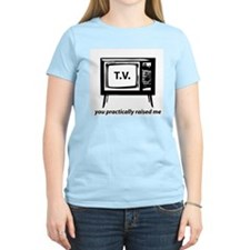 TELEVISION RAISED ME HUMOR LIGHT TEE T-Shirt