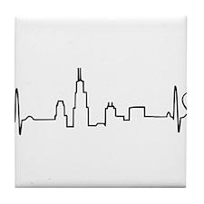 Chicago Heartbeat (Heart) Tile Coaster