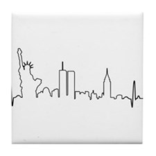 New York Heartbeat Tile Coaster