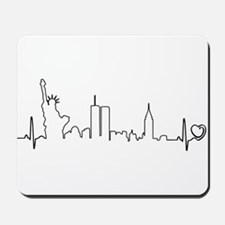 New York Heartbeat (Heart) Mousepad