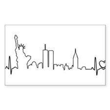 New York Heartbeat (Heart) Decal