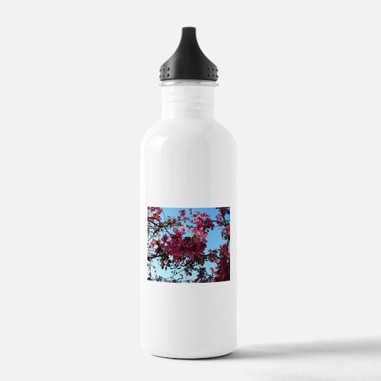 Pretty Pink Portland Flowers Water Bottle