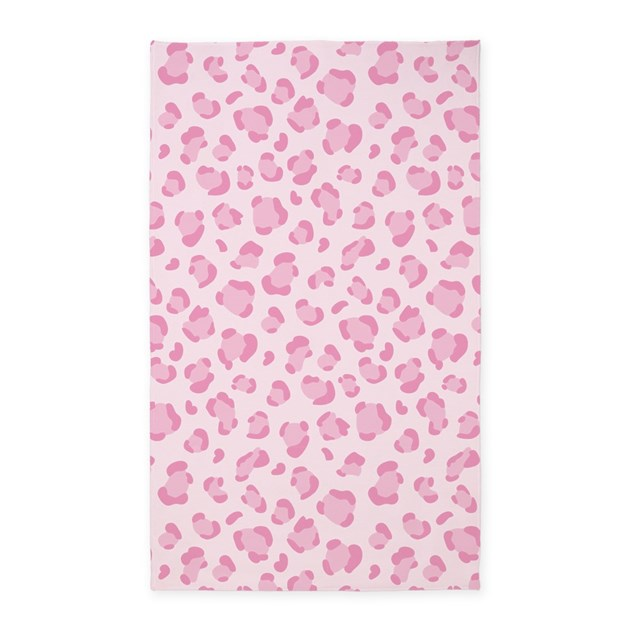 Pink Leopard Print 3'x5' Area Rug By InspirationzStore