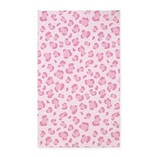 Pink Leopard Print 3'x5' Area Rug