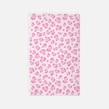 Pink Leopard Print 3'x5' Area Rug