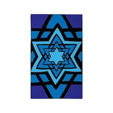 Blue star 3'x5' Area Rug