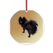 Black Pomeranian Ornament (Round)