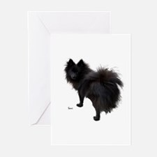 Black Pomeranian Greeting Cards (Pk of 10)