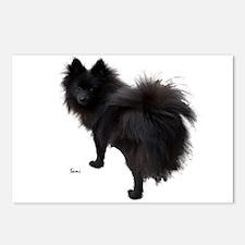 Black Pomeranian Postcards (Package of 8)