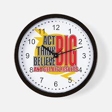 Big Affirmations Wall Clock