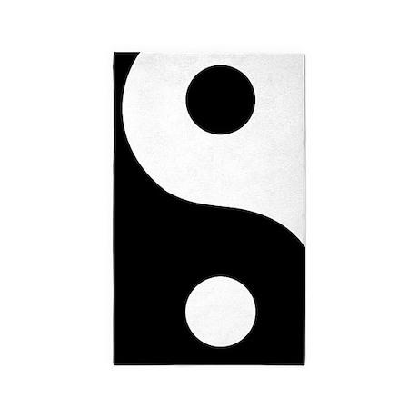 Yin Yang Abstract 3'x5' Area Rug