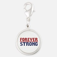 Forever Strong Silver Round Charm