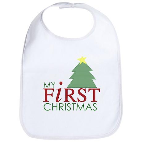 My First Christmas - Tree Bib