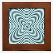 Teal Spiral Framed Tile