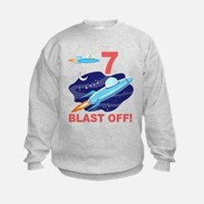 Outer Space 7th Birthday Sweatshirt