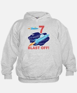 Outer Space 7th Birthday Hoodie