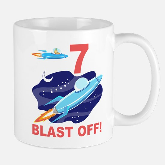 Outer Space 7th Birthday Mug