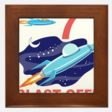 Outer Space 7th Birthday Framed Tile