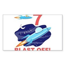 Outer Space 7th Birthday Decal