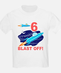Outer Space 6th Birthday T-Shirt