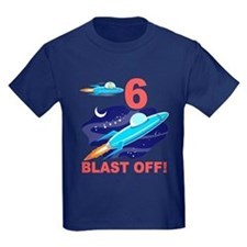 Outer Space 6th Birthday T