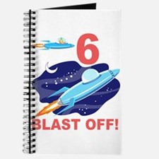 Outer Space 6th Birthday Journal