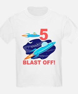 Outer Space 5th Birthday T-Shirt