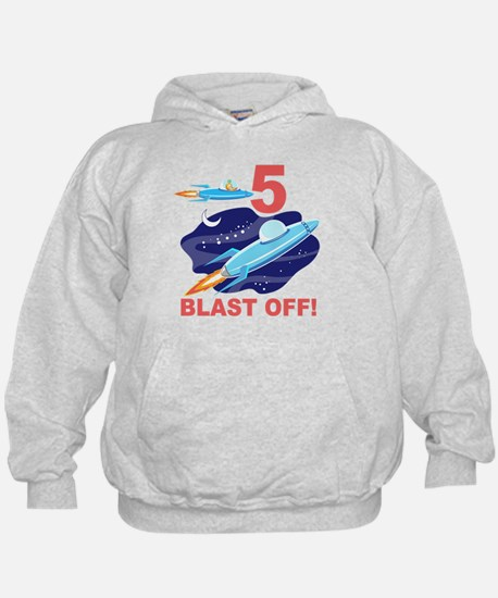 Outer Space 5th Birthday Hoodie