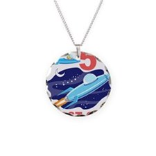 Outer Space 5th Birthday Necklace