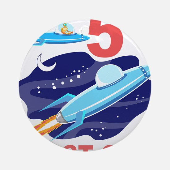 Outer Space 5th Birthday Ornament (Round)