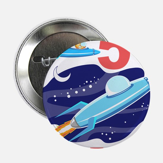 "Outer Space 5th Birthday 2.25"" Button"