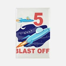 Outer Space 5th Birthday Rectangle Magnet