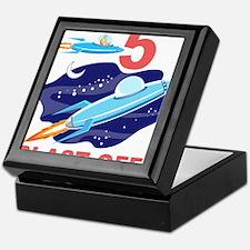 Outer Space 5th Birthday Keepsake Box