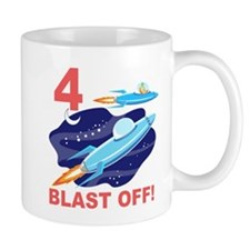 Outer Space 4th Birthday Mug