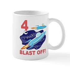 Outer Space 4th Birthday Mug