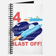 Outer Space 4th Birthday Journal