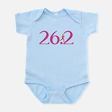 26.2 Marathon Run Like A Girl Infant Bodysuit