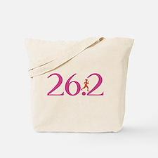 26.2 Marathon Run Like A Girl Tote Bag