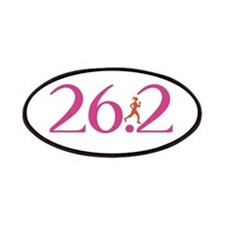 26.2 Marathon Run Like A Girl Patches