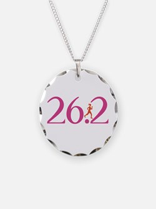 26.2 Marathon Run Like A Girl Necklace