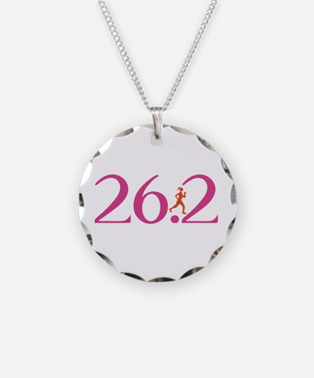 26.2 Marathon Run Like A Girl Necklace