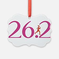 26.2 Marathon Run Like A Girl Ornament