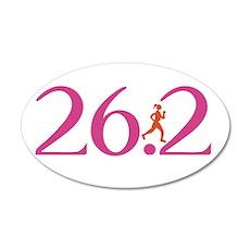 26.2 Marathon Run Like A Girl Wall Decal