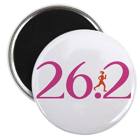 "26.2 Marathon Run Like A Girl 2.25"" Magnet (100 pa"