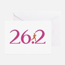 26.2 Marathon Run Like A Girl Greeting Card