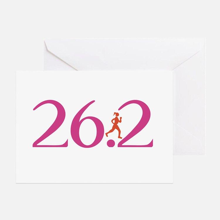 26.2 Marathon Run Like A Girl Greeting Card