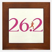 26.2 Marathon Run Like A Girl Framed Tile