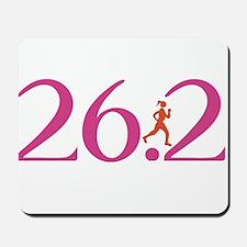 26.2 Marathon Run Like A Girl Mousepad